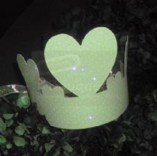 Paper crown green with dots for kids(set of12)/Κορώνα χάρτινη πράσινη με πουα για παιδιά(σετ των 12)